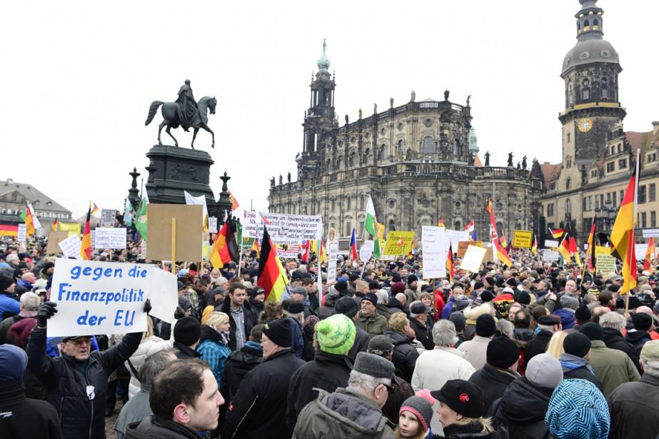 Acronyme allemand de «patriotes européens contre l'islamisation de... (PHOTO JOHN MACDOUGALL, ARCHIVES AFP)