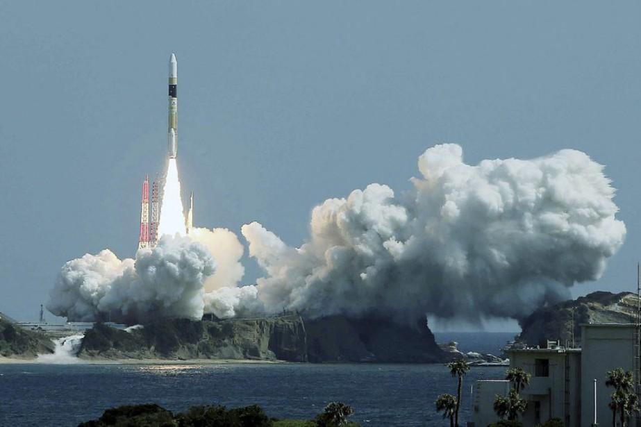 Il s'agissait du 28e tir du lanceur H-2A... (PHOTO AGENCE FRANCE-PRESSE/JIJI PRESS)