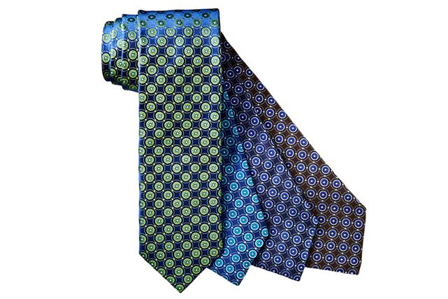 Cravates en soie à motif géométrique de Canali ()