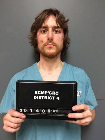 Justin Bourque a été condamné à 75 ans... (Photo La presse canadienne, fournie par la GRC)