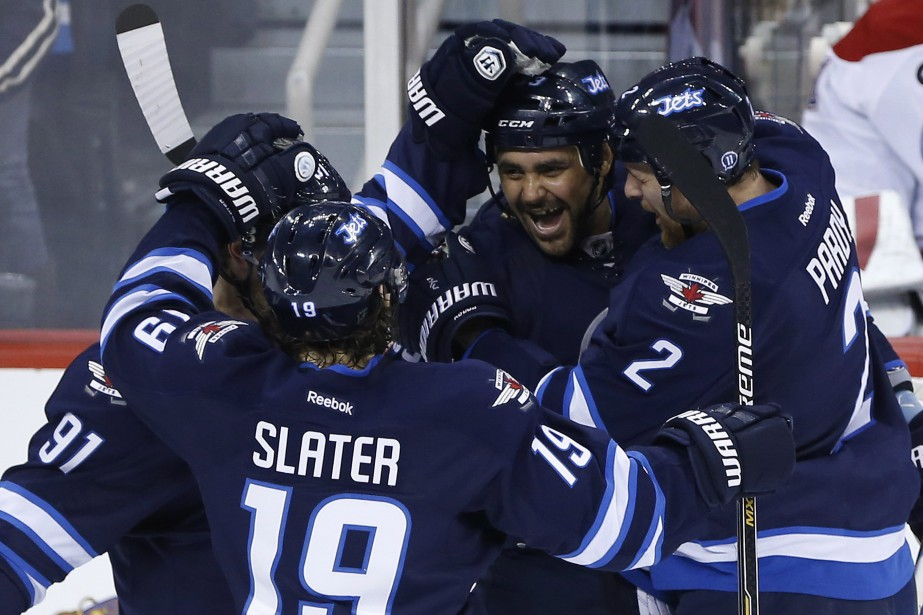 Les Jets ont mis à mal la défense du Canadien. (Photo La Presse Canadienne)