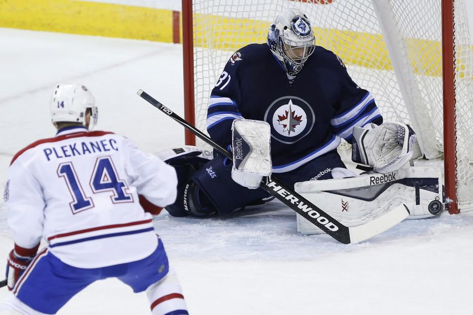 Plekanec se demande où se trouve la brèche. (Photo La Presse Canadienne)