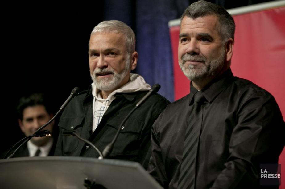 Michel Lemieux et Victor Pilon ont été longuement... (Photo: David Boily, La Presse)