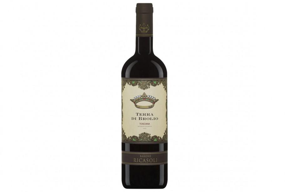 Vin rouge de Toscane, d'un domaine surtout réputé pour ses vins de Sangiovese,...