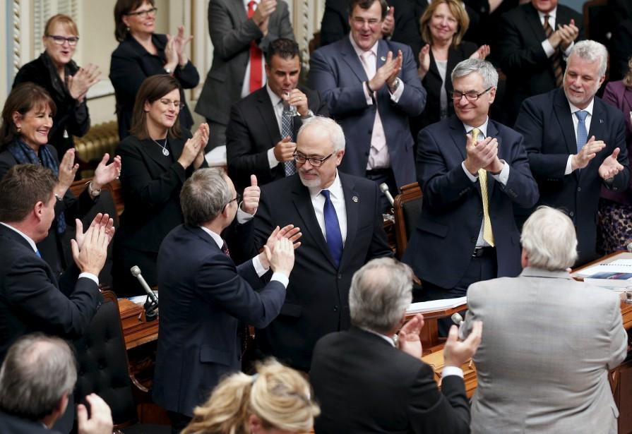 Le ministre des Finances, Carlos Leitao.... (Photo Mathieu Bélanger, Reuters)