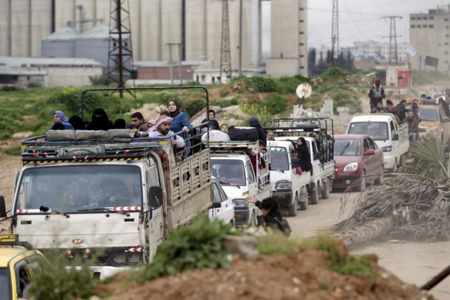 Idleb est la deuxième capitale provinciale, après Raqa... (PHOTO KHALIL ASHAWI, REUTERS)