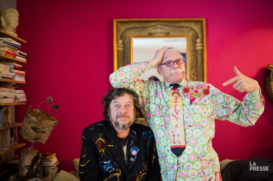 François Gourd (à gauche) et le Dr. Patch... (PHOTO EDOUARD PLANTE-FRÉCHETTE, LA PRESSE)