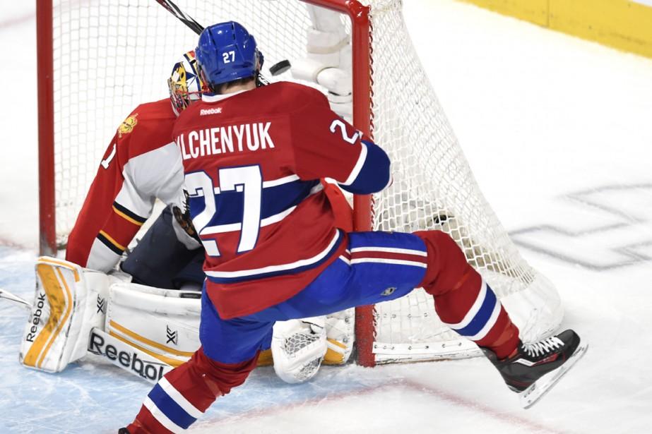 Alex Galchenyuk a marqué son 20e but de la saison. (Photo Bernard Brault, La Presse)