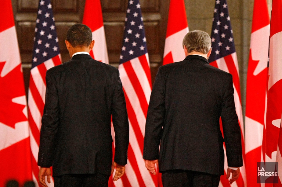 Sur cette photo de 2009, le président américain... (PHOTO IVANOH DEMERS, ARCHIVES LA PRESSE)