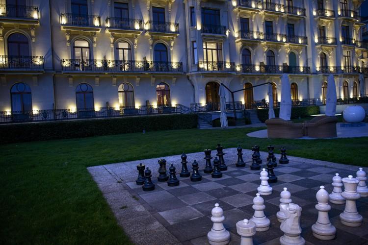 Les négociations se sont déroulées à l'hôtelBeau Rivage... (Photo: AFP)