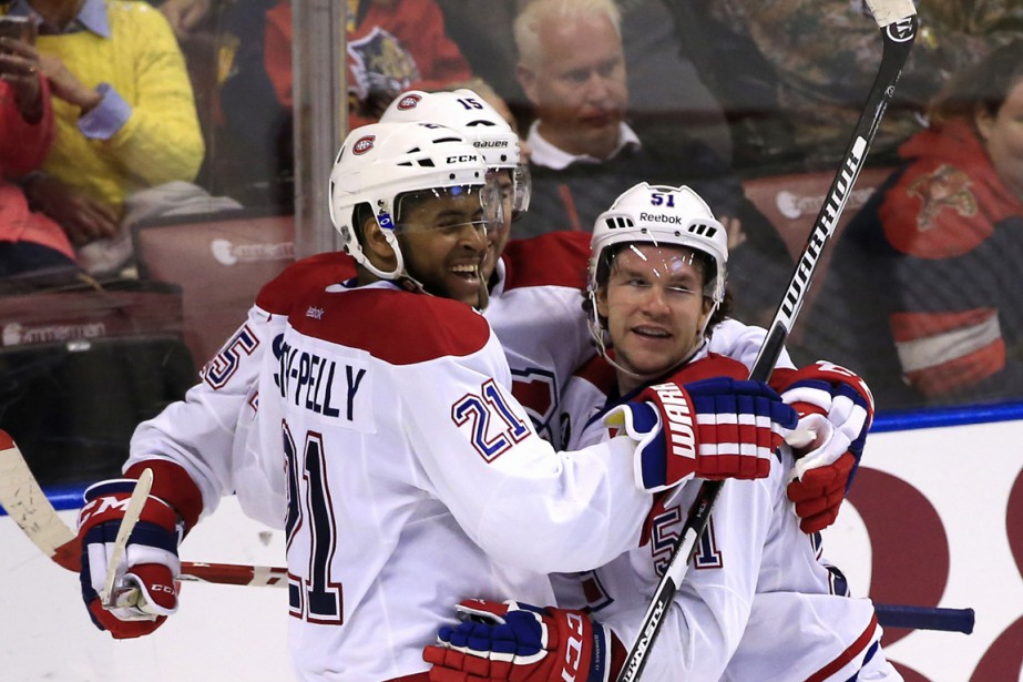 Devante Smith-Pelly a marqué son premier but depuis qu'il est un membre du Canadien. (Photo Robert Mayer, USA TODAY Sports)