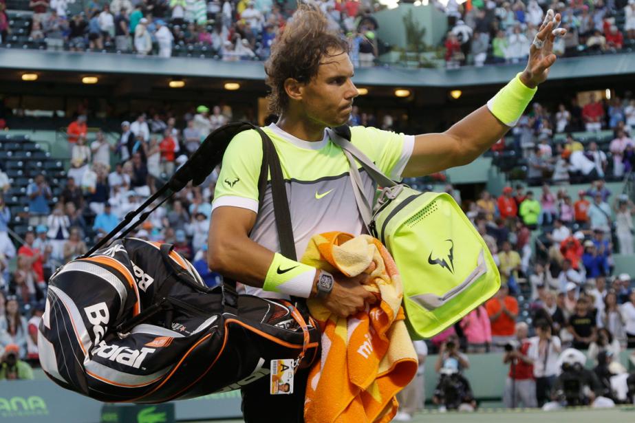 Rafael Nadal a été éliminé dès le troisième... (Photo Lynne Sladky, AP)