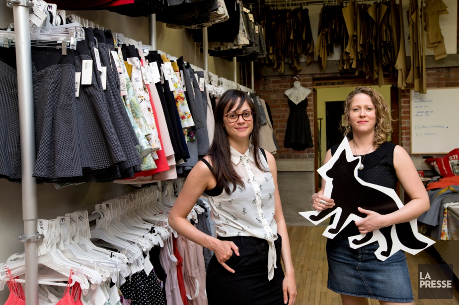 Annie Chagnon et Amélie Gingras-Rioux, designers et fondatrices... (PHOTO ALAIN ROBERGE, LA PRESSE)