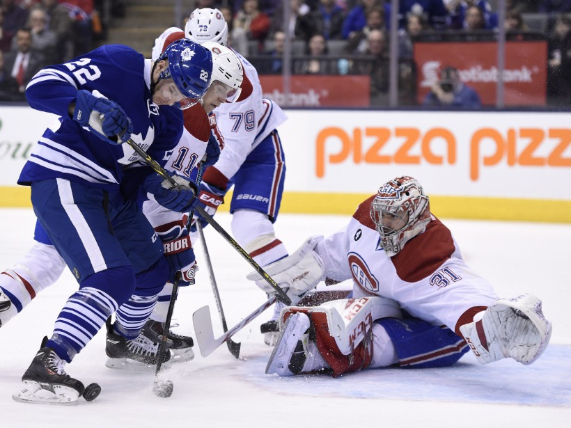 Carey Price bloque in extremis un tir de Zach Sill. (PHOTO FRANK GUNN, LA PRESSE CANADIENNE)