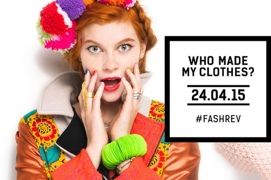 Cette campagne du «Fashion Revolution Day», qui s'adresse... (Photo tirée de Facebook)