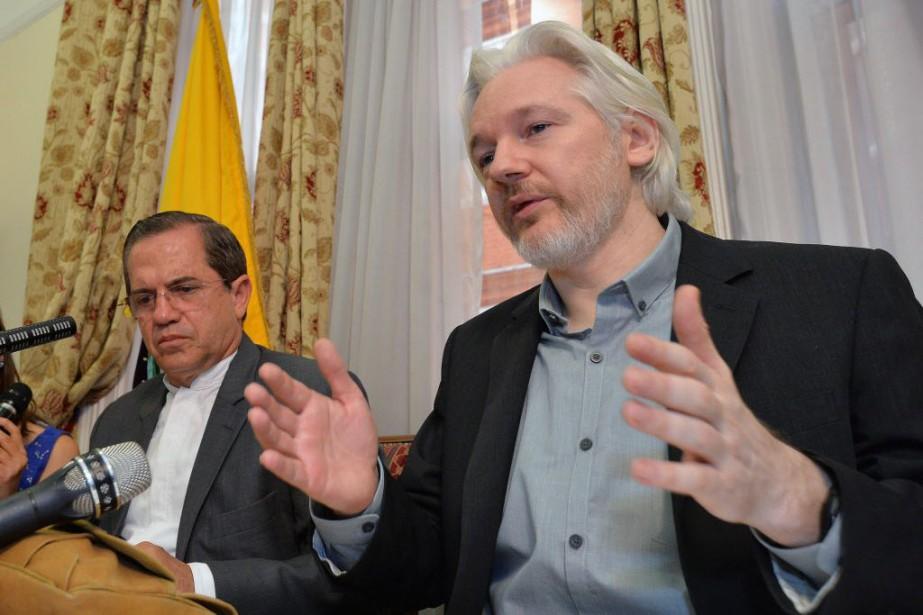 Julian Assange fait l'objet d'une enquête pour viol... (PHOTO JOHN STILLWELL, ARCHIVES AP)