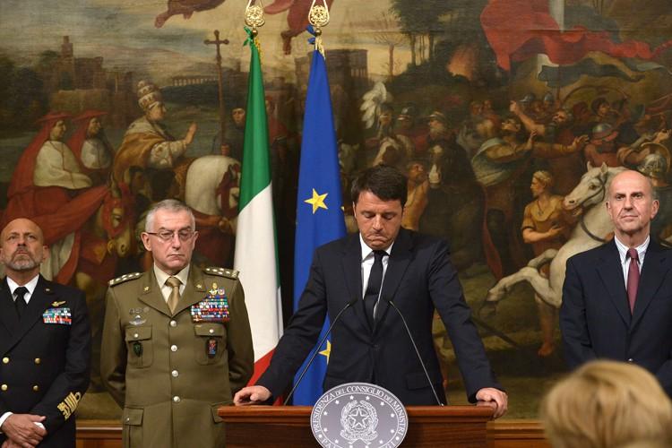 En conférence de presse à Rome dimanche, le... (Photo: AFP)