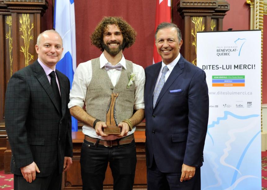 Jean-Mathieu Chénier a reçu le Prix Claude-Masson des... (Photo fournie par l'auteur)