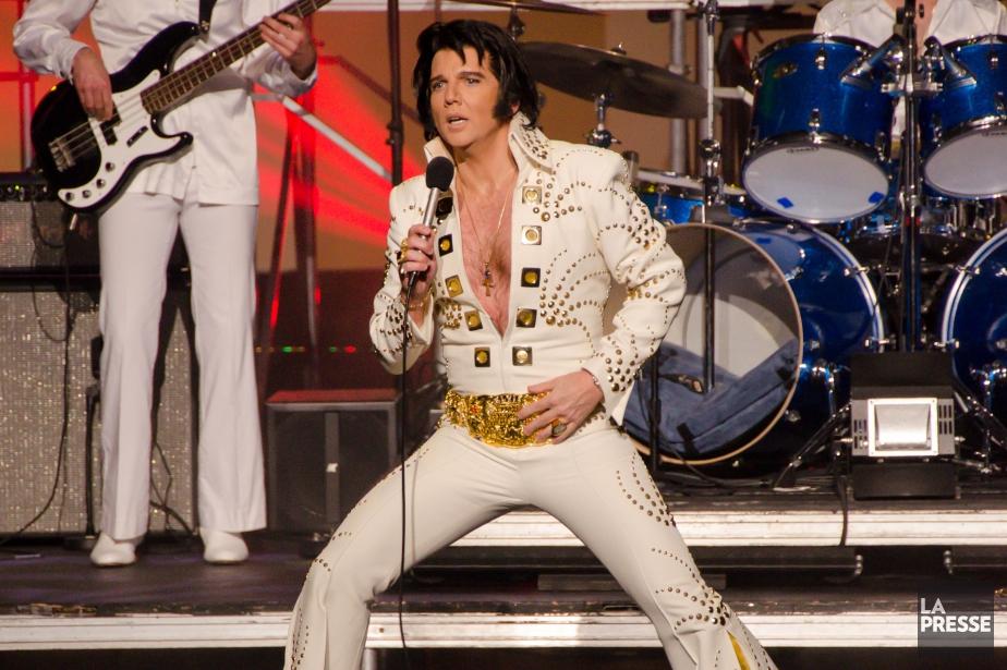 Martin Fontaine lors de la première d'Elvis Experienceà... (Photo Roger Bennett)