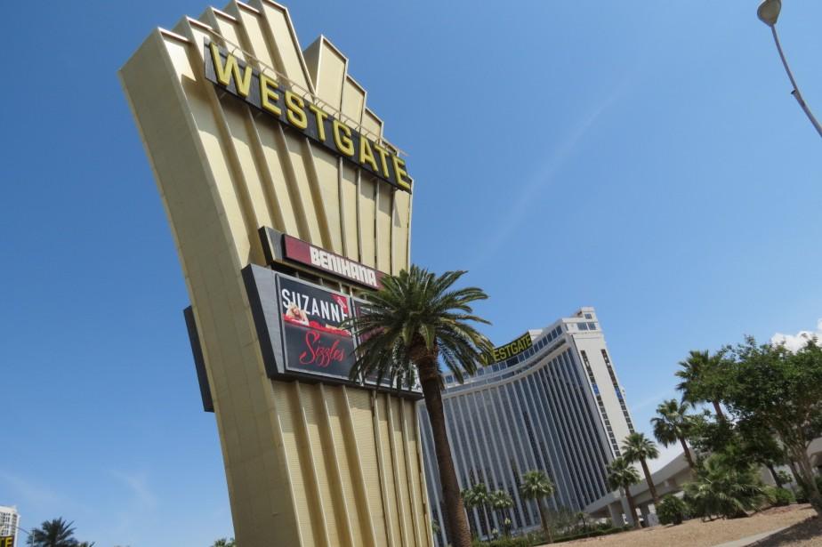 L'hôtel Westgate de Las Vegas, où s'est produit Elvis Presley à de nombreuses reprises. (Collaboration spéciale Geneviève Bouchard)