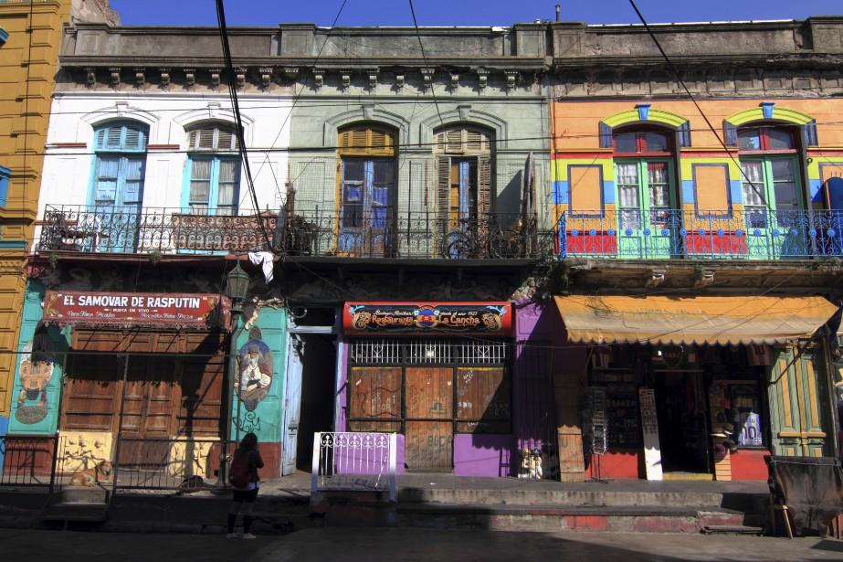 Des façades en couleurs, typiques du quartier populaire de La Boca (Collaboration spéciale Marc Tremblay)