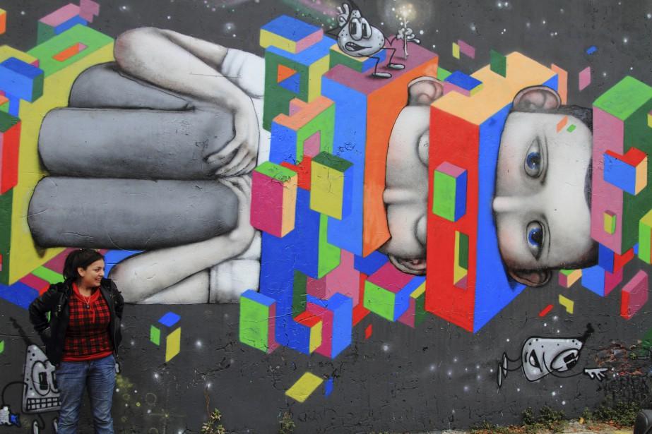 Une fresque aperçue dans les rues du quartier Palermo (Collaboration spéciale Marc Tremblay)