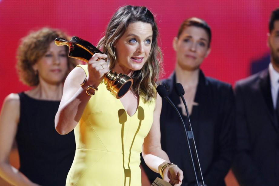 Julie Le Breton,gagnante du prix Artis pour le rôle feminin dans une comédie québécoise (PHOTO OLIVIER JEAN, LA PRESSE)