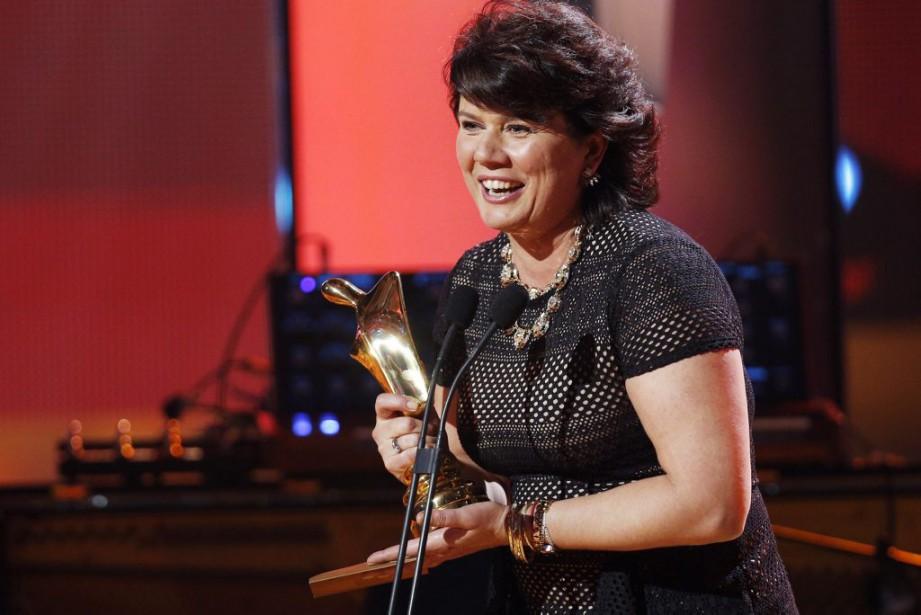 Marina Orsini, gagnante du trophée Artis pour le rôle féminin dans une téléserie québécoise (PHOTO OLIVIER JEAN, LA PRESSE)