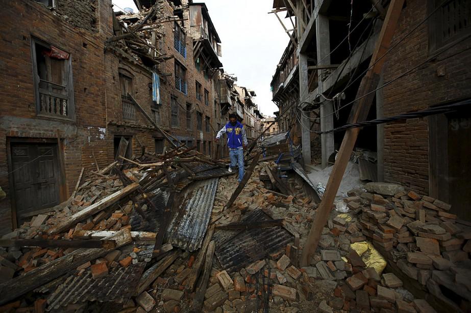 La région de Katmandou s'est soulevée d'environ 50... (PHOTO Navesh Chitrakar, REUTERS)