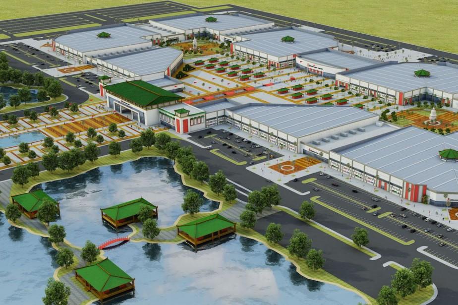 Le chantier du Dragon Mart de Cancún (notre... (Image tiree d'internet)