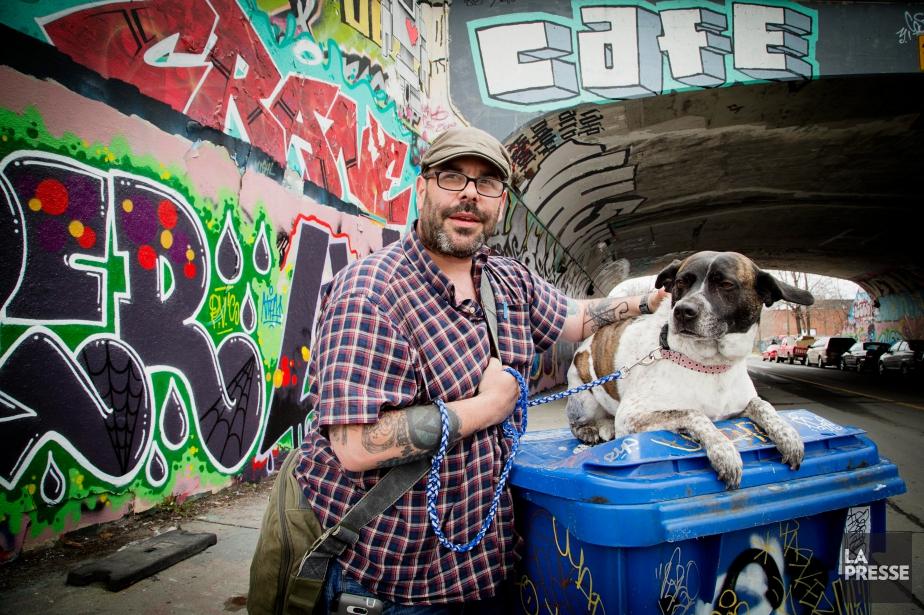 Le graffiteur Stéphane Marceau affirme que personne ne... (PHOTO ALAIN ROBERGE, LA PRESSE)