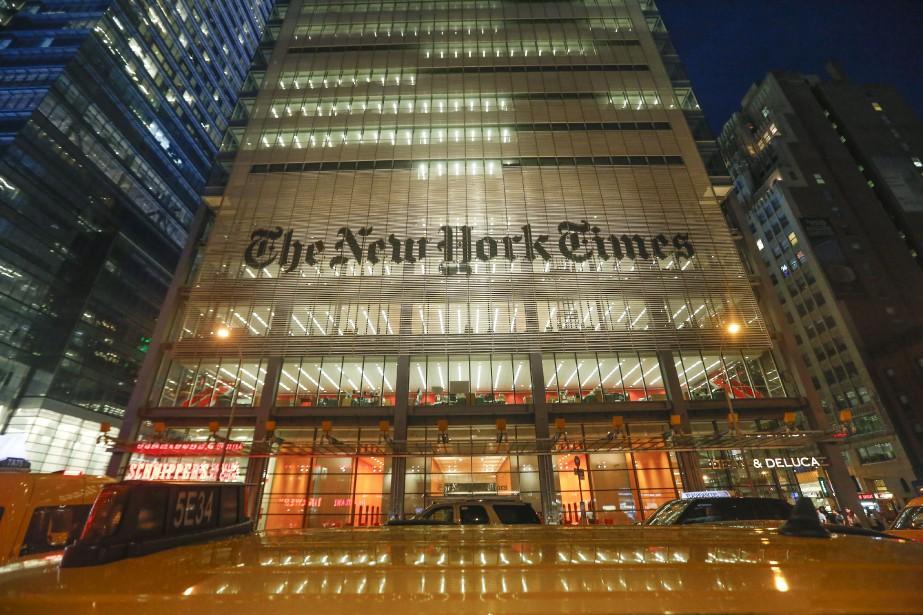 L'édifice du New York Times situé sur la... (PHOTO ARCHIVES NEW YORK TIMES)