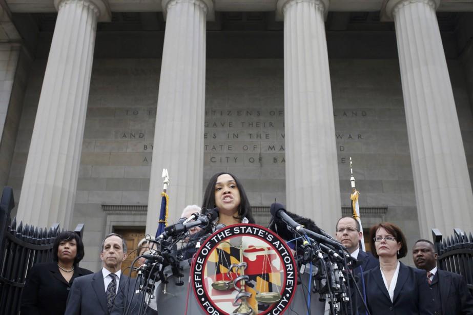 La procureure de Baltimore Marilyn Mosby.... (PHOTO ADREES LATIF, REUTERS)