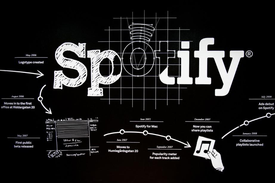 Le service d'écoute de musique en ligne... (PHOTO JONATHAN NACKSTRAND, AFP)