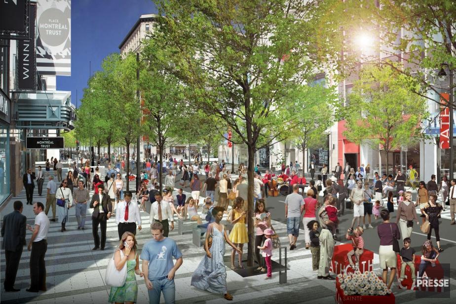 Un scénario flexible pour la rue Ste-Catherine Ouest | La Presse
