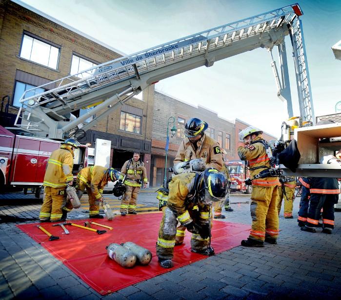 L'édifice a été le théâtre d'un incendie en 2011. (Archives La Tribune, Jocelyn Riendeau)