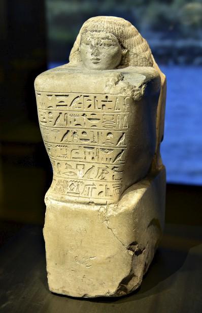 Statue accroupie de l'architecte Amenhotep (Le Soleil, Patrice Laroche)