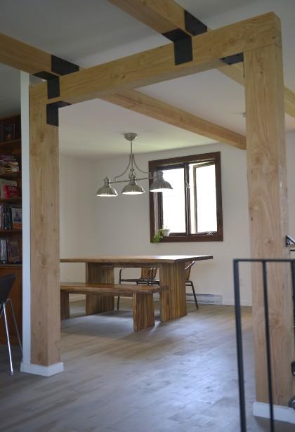Les propriétaires désiraient un espace de vie ouvert et contemporain, avec des détails industriels. (Le Soleil, Yan Doublet)