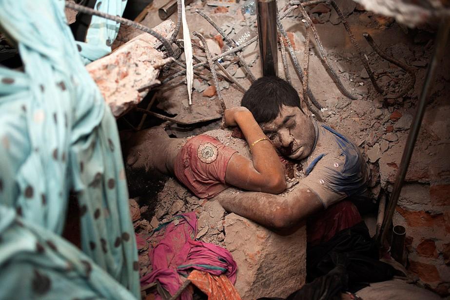 L'effondrement du bâtiment, le 24 avril 2013, avait... (PHOTO TASLIMA AKHTER)