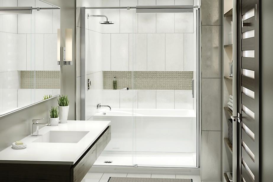 le bain et la douche encore r invent s chez maax. Black Bedroom Furniture Sets. Home Design Ideas