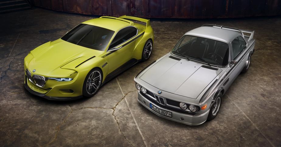 L'étude de style BMW 3.0 CSL Hommage aux côtés de la 3.0 CSL. (Photo fournie par BMW)