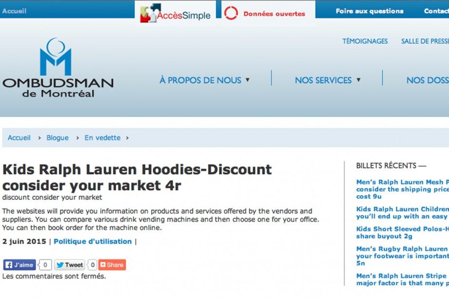 Le site Internet de l'Ombudsman de Montréal est présentement victime d'un...