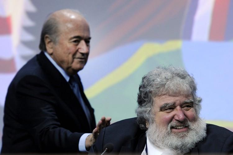 Sepp Blatter etChuck Blazer à Zurich en 2011.... (Archives AFP)
