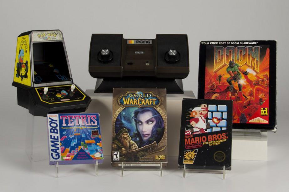 En plus dePongetDoom, la sélection inclutSuper Mario Bros,Pac-Man,TetrisetWorld... (Pjoyo Bethany Mosher, The Strong Museum/ AP)