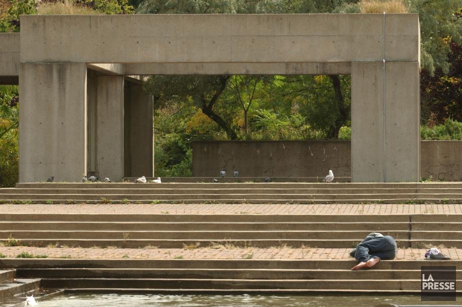 L'agora du square Viger sera démolie en novembre.... (PHOTO PATRICK SANFAÇON, ARCHIVES LA PRESSE)