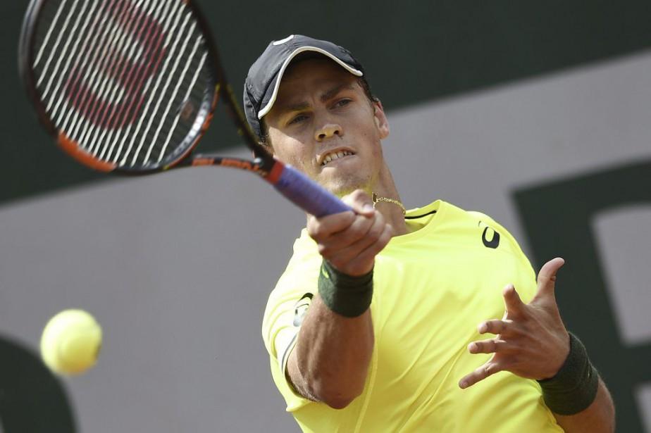 Vasek Pospisil n'avait pas remporté de victoiresur le... (PHOTO MIGUEL MEDINA, ARCHIVES AFP)
