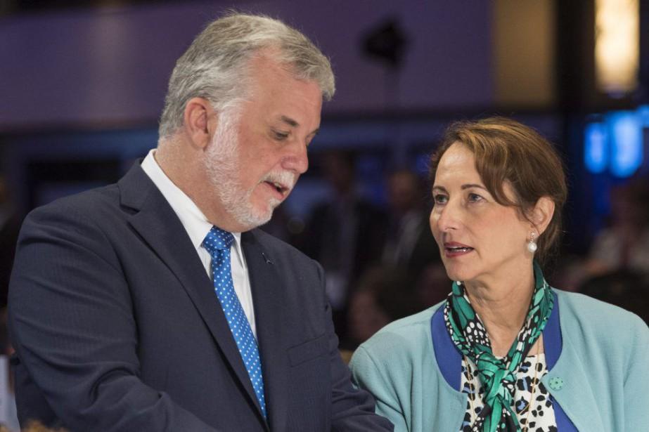 Philippe Couillard et Segolène Royal àla Conférence de...