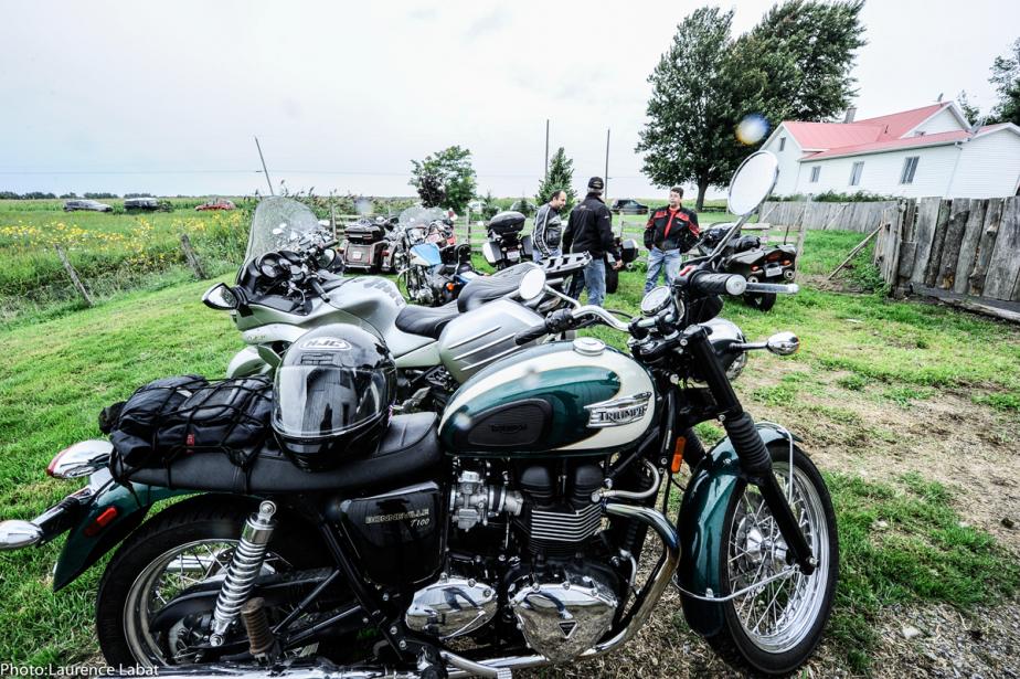 Une section de la Brocante moto est consacrée aux motos anciennes, qui seront exposées pendant tout le week-end. (Photo fournie par la Brocante moto)