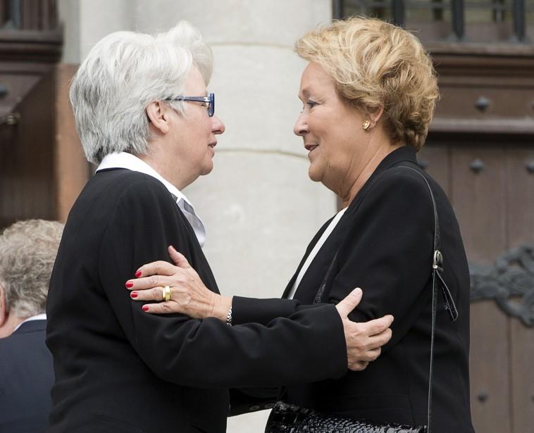 La députée Agnès Maltais et l'ancienne première ministre Pauline Marois (La Presse Canadienne)