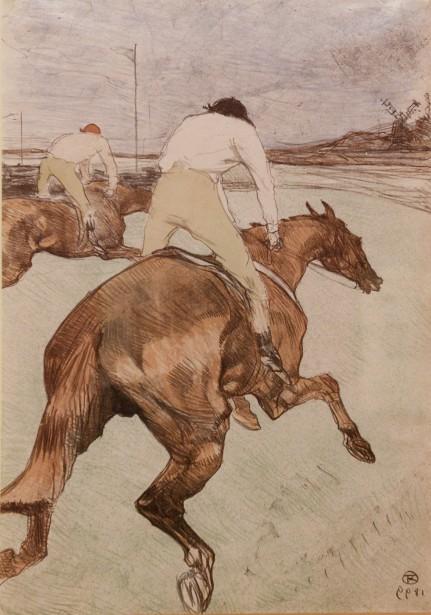 <em>Le Jockey</em> deHenri de Toulouse Lautrec (Le Soleil, Jean-Marie Villeneuve)